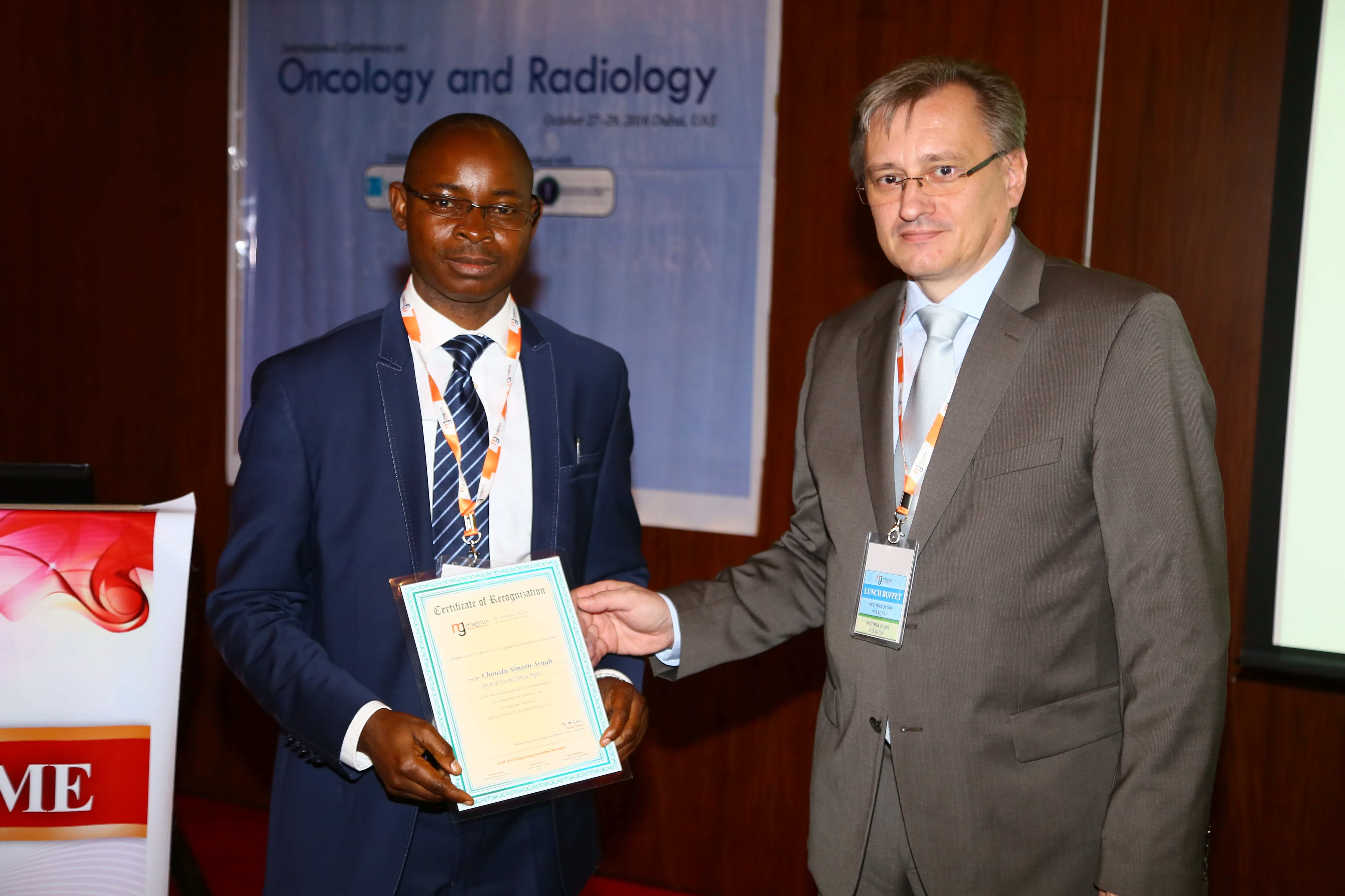 Cancer conference - Dr. Chinedu Simeon Aruah