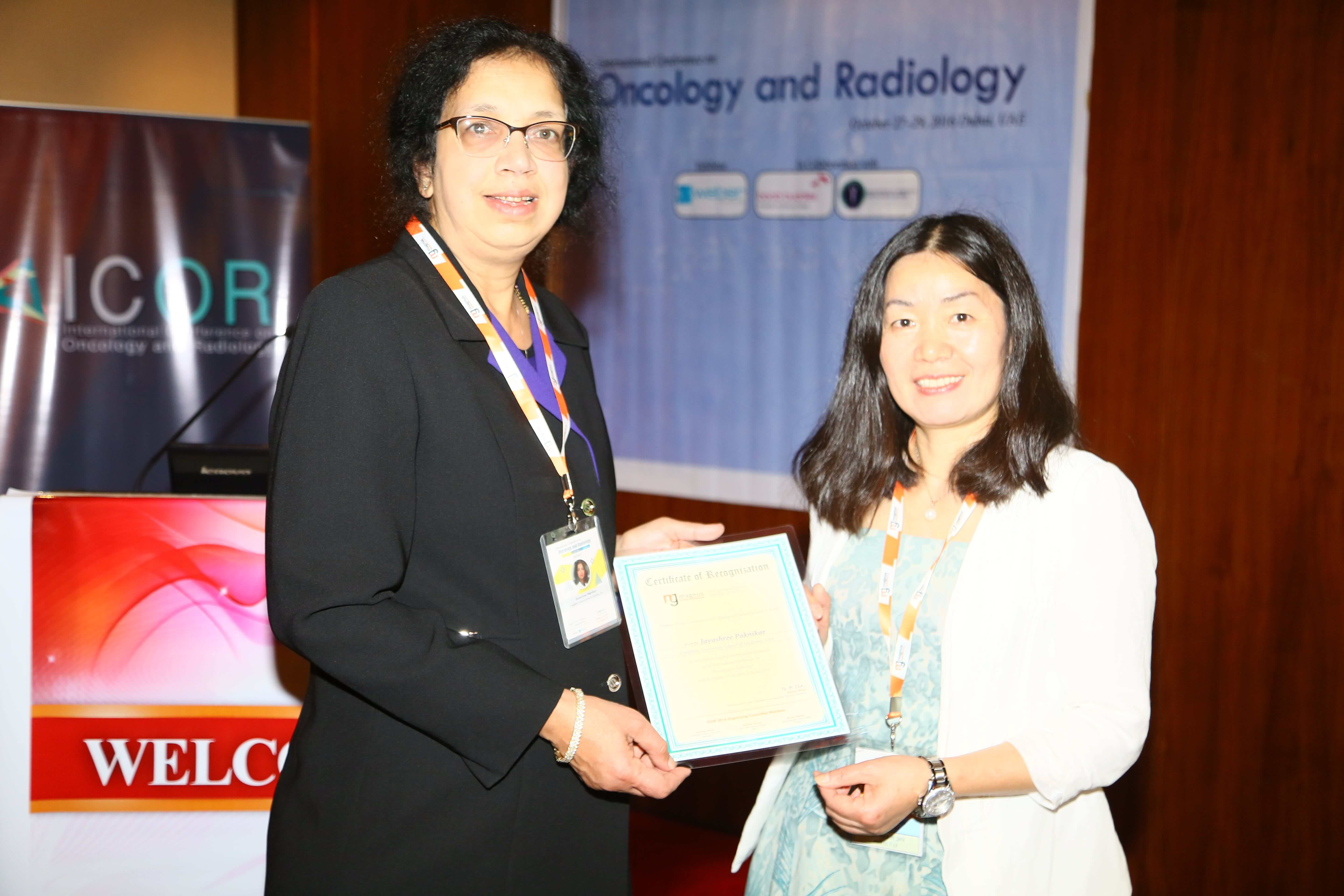 Cancer research conferences - Dr. Xiufen Zheng