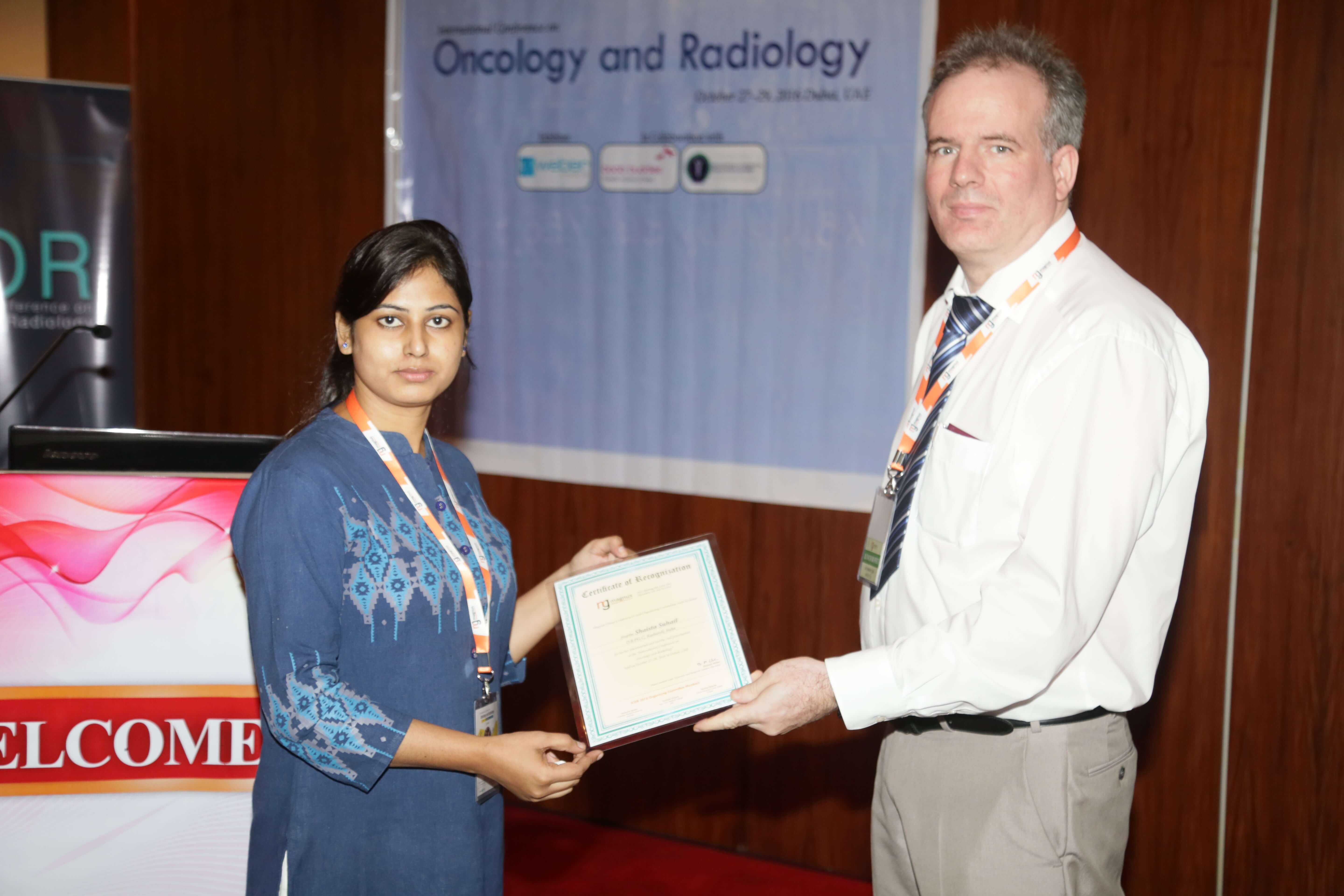 Cancer research conferences - Mrs.Shaista Suhail