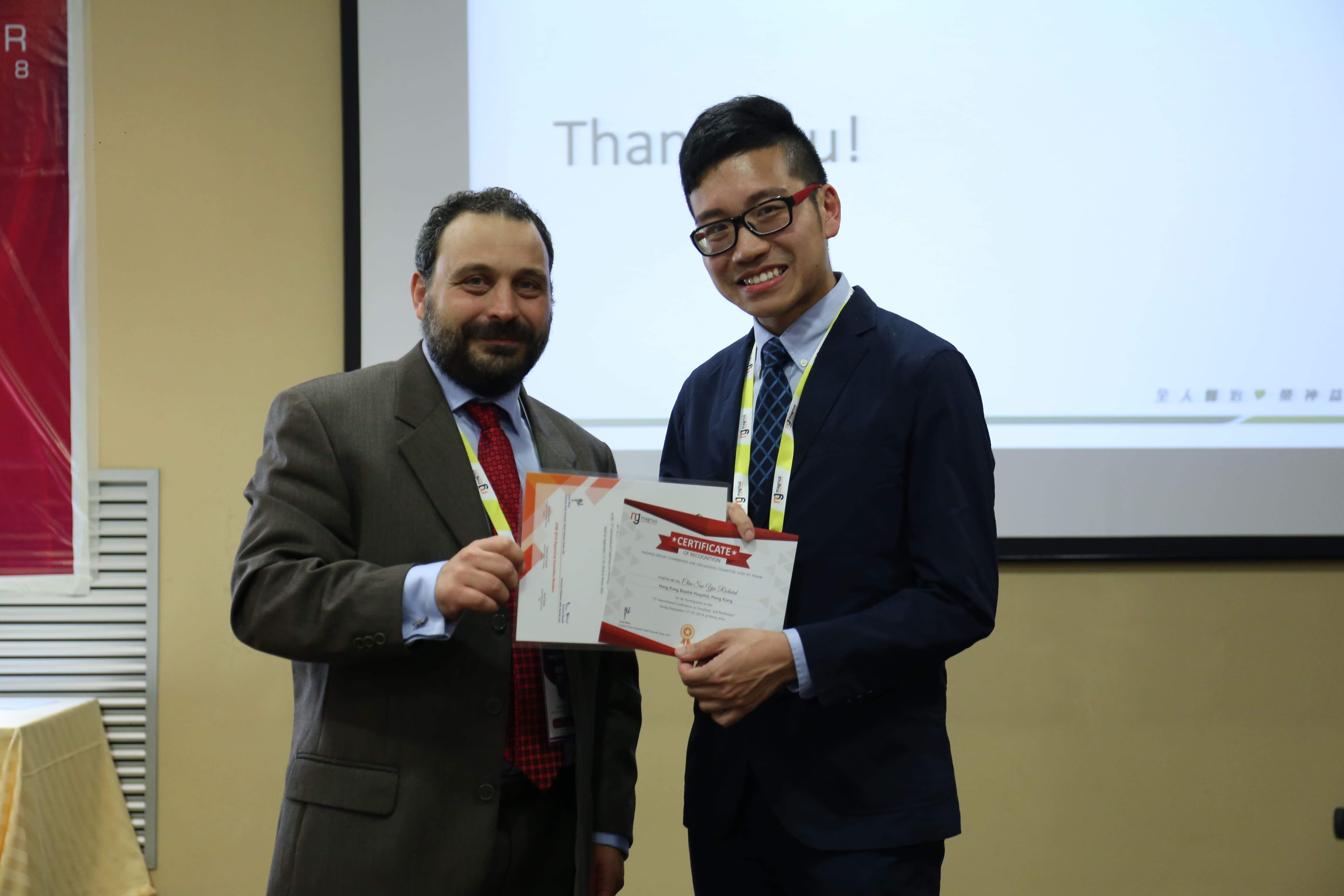 Cancer research conferences - Chiu Sai Yiu Richard