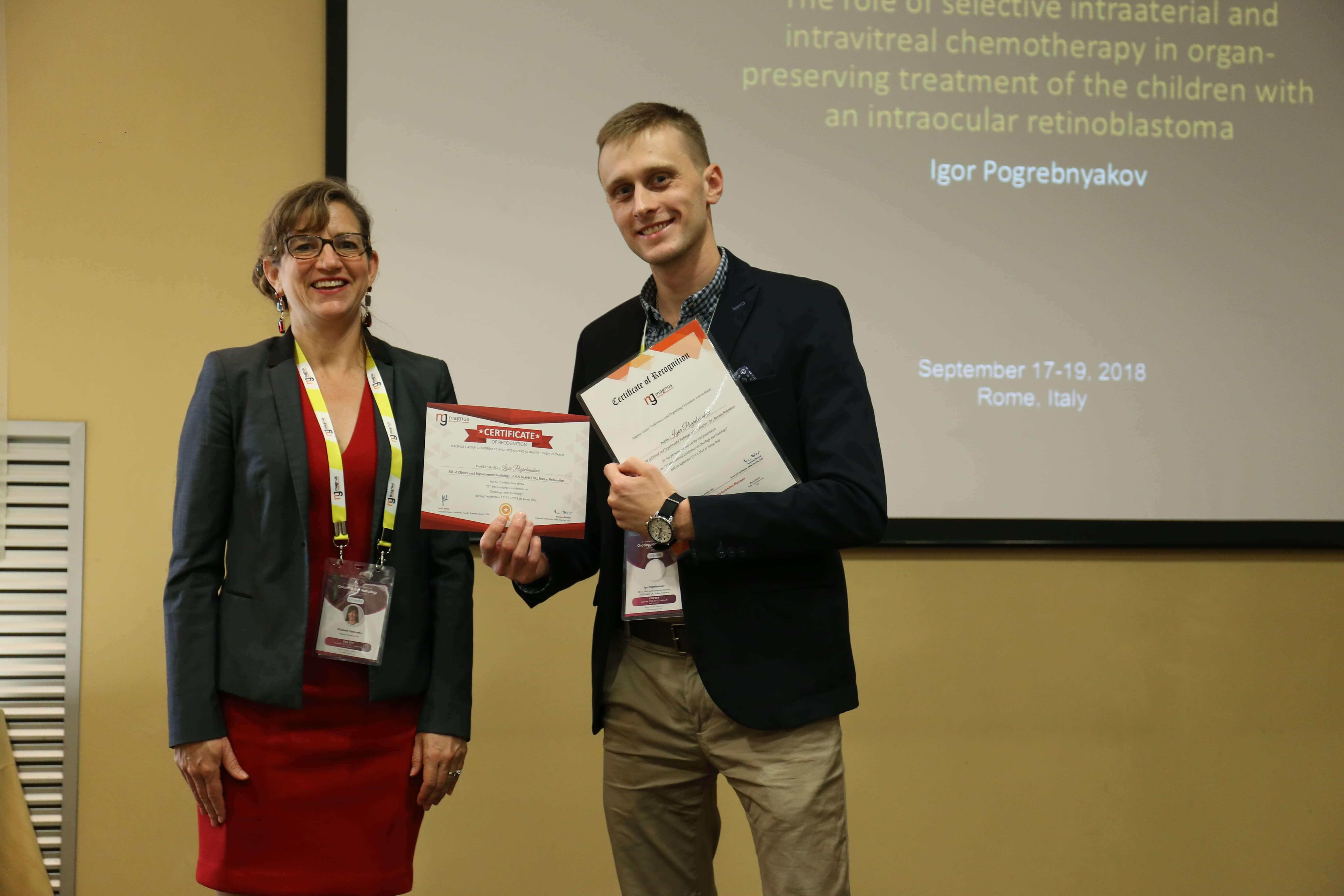 Cancer Conferences - Igor Pogrebniakov
