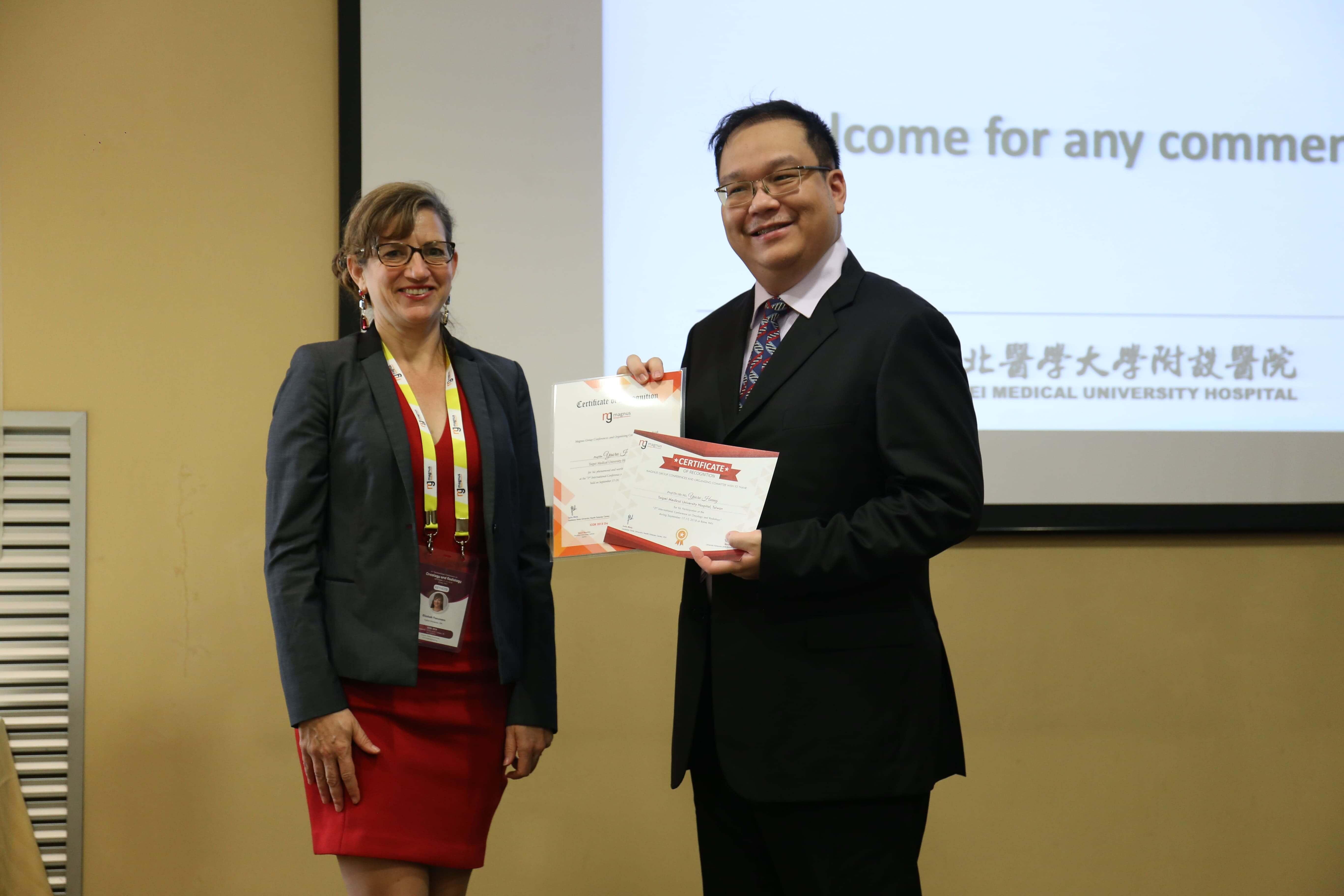 Cancer education conferences - Yaoru Huang
