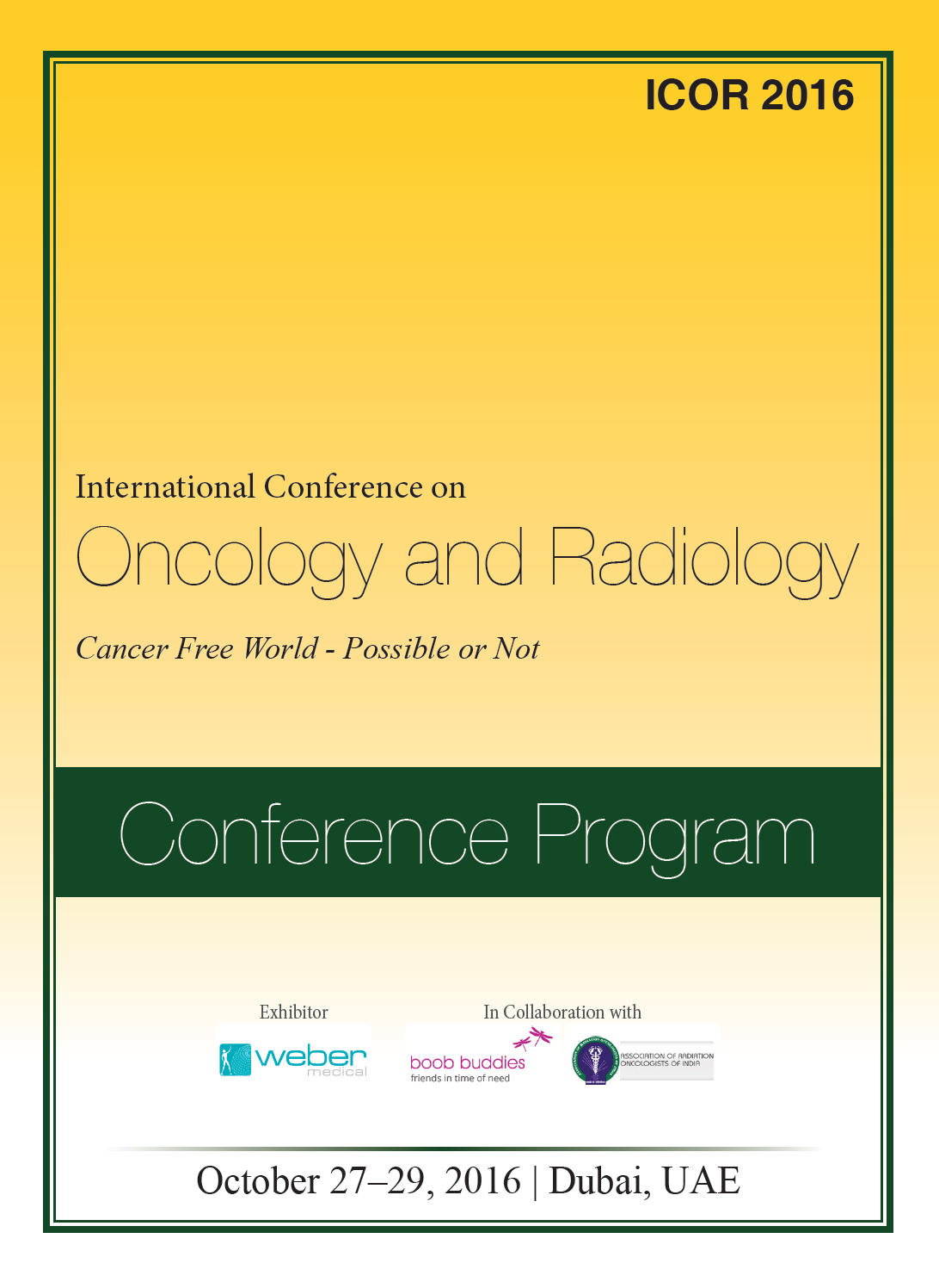 International Conference on Oncology and Radiology  Program
